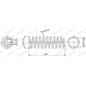 MONROE  SP0100 Fahrwerksfeder Länge: 375mm, Ø: 170,0mm