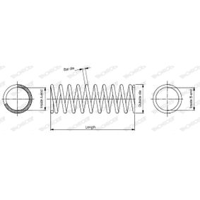 MONROE  SP0300 Fahrwerksfeder Länge: 394mm, Ø: 175,0mm