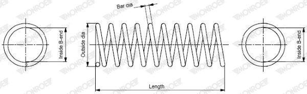 MONROE  SP1451 Fahrwerksfeder Länge: 314mm, Ø: 98mm