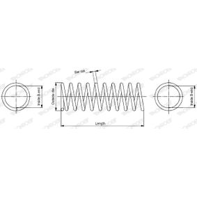 MONROE  SP2363 Fahrwerksfeder Länge: 479mm, Ø: 186,1mm