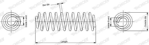 Spiralfeder MONROE SP3287 Bewertung