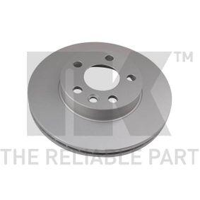 Bremsscheibe Bremsscheibendicke: 24,00mm, Felge: 5,00-loch, Ø: 280mm mit OEM-Nummer 7D0615301A