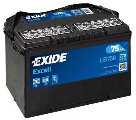 Autobatterie EB758 EXIDE 87860 in Original Qualität