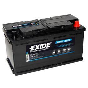 EXIDE DUAL, EXIDE DUAL AGM EP800 Starterbatterie Polanordnung: 0