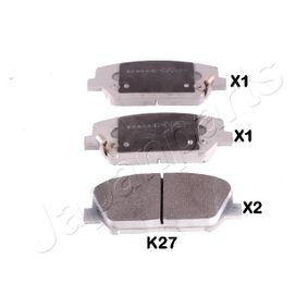 Bremsbelagsatz, Scheibenbremse Höhe: 60mm, Dicke/Stärke: 17mm mit OEM-Nummer 581012TA61