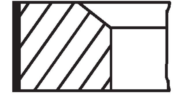 Kolbenringsatz MAHLE ORIGINAL 081RS001040N0 4009026929087
