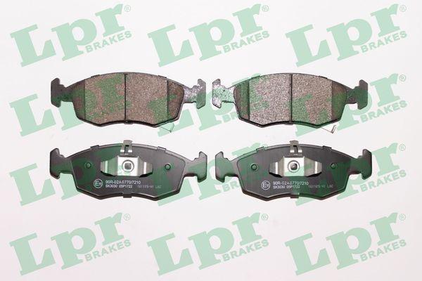 LPR  05P1722 Bremsbelagsatz, Scheibenbremse Breite: 149,5mm, Höhe: 52,5mm, Dicke/Stärke: 17,8mm