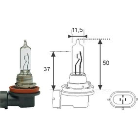 Bulb, spotlight H9 12V 65W PGJ-19-5 002548100000 MERCEDES-BENZ S-Class Saloon (W221)