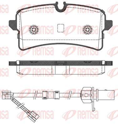 REMSA  1505.02 Bremsbelagsatz, Scheibenbremse Höhe: 61,9mm, Dicke/Stärke: 17,6mm