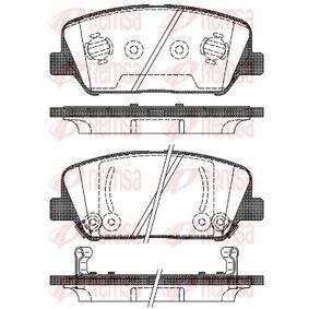 Bremsbelagsatz, Scheibenbremse Höhe: 60mm, Dicke/Stärke: 17,8mm mit OEM-Nummer 58101-2TA20