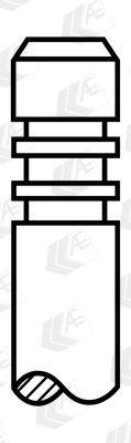 AE  V95098 Einlassventil Länge: 103,95mm, Ventilteller-Ø: 33,80mm, Ventilschaft-Ø: 5,975mm