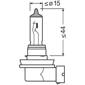 Glühlampe, Fernscheinwerfer H11, 70W, 24V 64216TSP