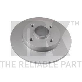 Disco de travão Espessura do disco de travão: 9mm, Jante: 4furos, Ø: 249mm com códigos OEM 42.49.34