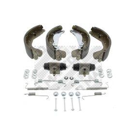 Bremsensatz für OPEL CORSA C (F08, F68) 1.2 75 PS ab Baujahr 09.2000 MAPCO Bremsensatz, Trommelbremse (9729) für