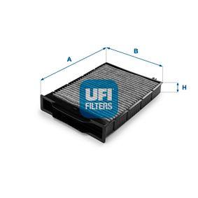 Filter, Innenraumluft Länge: 247,0mm, Breite: 180,5mm, Höhe: 30,0mm mit OEM-Nummer 7701 064 235