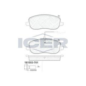 Bremsbelagsatz, Scheibenbremse Höhe: 59,8mm, Dicke/Stärke: 19,3mm mit OEM-Nummer 77 362 236