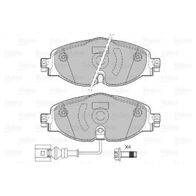 Brake Pad Set, disc brake Width: 160,1mm, Height: 64,6mm, Thickness: 19,90mm with OEM Number 5Q0 698 151 L