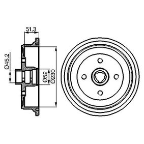 Bremstrommel Br.Tr.Durchmesser außen: 290mm mit OEM-Nummer 443501615