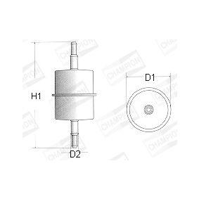 CHAMPION Kraftstofffilter L106/606 für AUDI 100 (44, 44Q, C3) 1.8 ab Baujahr 02.1986, 88 PS