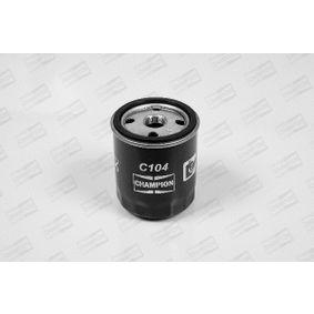 Filtre à huile Ø: 75,0mm, Diamètre intérieur: 71,5mm, Hauteur: 90,5mm avec OEM numéro 1072434