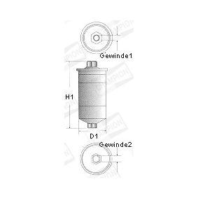 CHAMPION Kraftstofffilter L217/606 für AUDI 90 (89, 89Q, 8A, B3) 2.2 E quattro ab Baujahr 04.1987, 136 PS