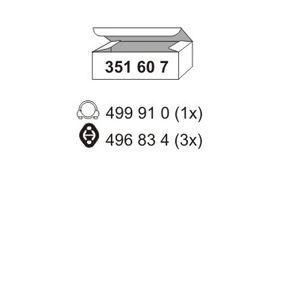 ERNST  351607 Montagesatz, Schalldämpfer