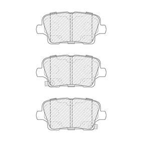 Bremsbelagsatz, Scheibenbremse Höhe: 53mm, Dicke/Stärke: 17mm mit OEM-Nummer 1343513