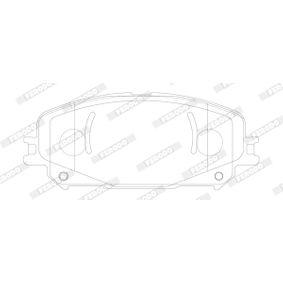 Bremsbelagsatz, Scheibenbremse Höhe: 53,4mm, Dicke/Stärke: 17,1mm mit OEM-Nummer 77366528