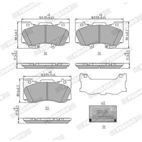 Bremsbelagsatz, Scheibenbremse Höhe: 63,8mm, Dicke/Stärke: 17,4mm mit OEM-Nummer 0446522312