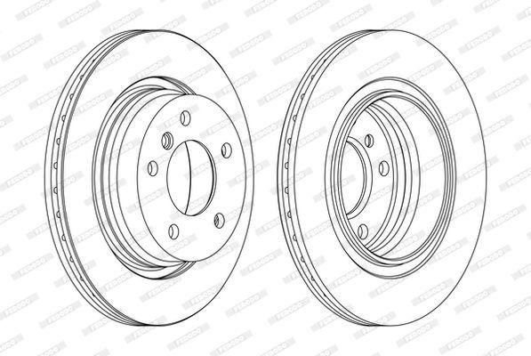 FERODO  DDF831-1 Bremsscheibe Bremsscheibendicke: 19mm, Lochanzahl: 5, Ø: 276mm