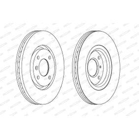 Bremsscheibe Bremsscheibendicke: 10mm, Lochanzahl: 5, Ø: 290mm mit OEM-Nummer 26700AE080