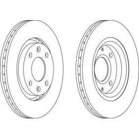 Bremsscheibe Bremsscheibendicke: 22mm, Lochanzahl: 4, Ø: 266mm mit OEM-Nummer 45410.00