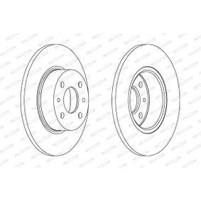 Bremsscheibe Bremsscheibendicke: 22mm, Lochanzahl: 5, Ø: 256mm mit OEM-Nummer 6RF 615 301 A