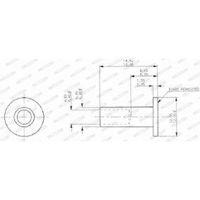 FERODO  DDF286-1 Bremsscheibe Bremsscheibendicke: 9.5mm, Lochanzahl: 4, Ø: 213mm
