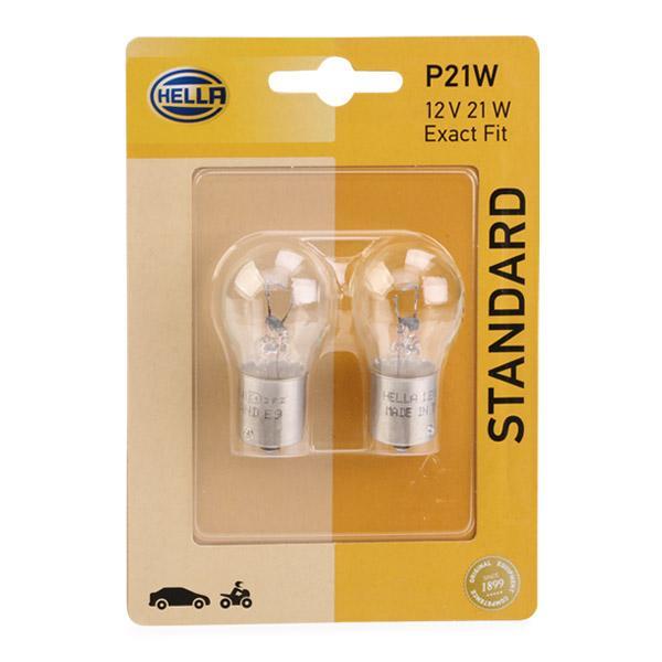 Lámpara 8GA 002 073-123 HELLA P21W12VB2 en calidad original