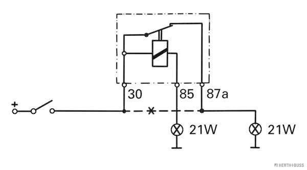 Relé, luz trasera antiniebla HERTH+BUSS ELPARTS 75614079 conocimiento experto