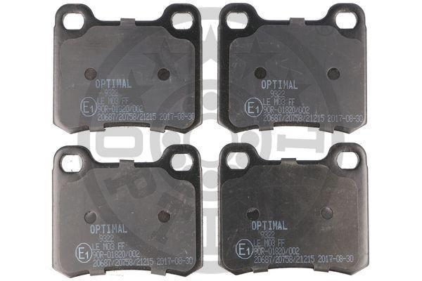 Bremsbeläge 9322 OPTIMAL 20687 in Original Qualität
