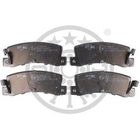 Bremsbelagsatz, Scheibenbremse Breite: 49mm, Dicke/Stärke: 15mm mit OEM-Nummer 58101-24B00