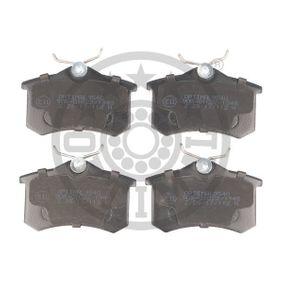 OPTIMAL Jogo de pastilhas para travão de disco 9540 com códigos OEM 1E0698451
