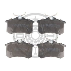 Bremsbelagsatz, Scheibenbremse Breite: 52,74mm, Dicke/Stärke: 17,2mm mit OEM-Nummer 5K0698451B