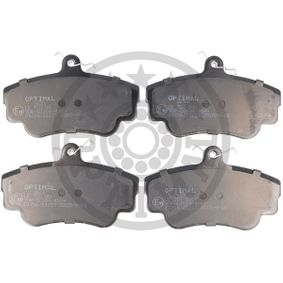 Brake Pad Set, disc brake Width: 67,4mm, Thickness: 17,5mm with OEM Number 3344787