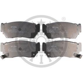 Bremsbelagsatz, Scheibenbremse Breite: 47,75mm, Dicke/Stärke: 16,5mm mit OEM-Nummer 4106050Y90