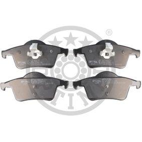 Bremsbelagsatz, Scheibenbremse Breite: 53,8mm, Dicke/Stärke: 17,2mm mit OEM-Nummer 30665552