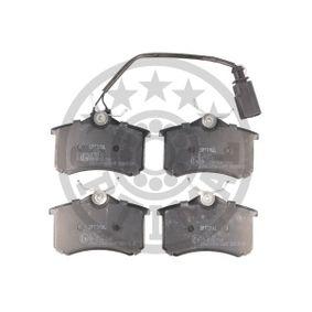 Bremsbelagsatz, Scheibenbremse Breite: 52,7mm, Dicke/Stärke: 17,2mm mit OEM-Nummer 8D0 698 451 B