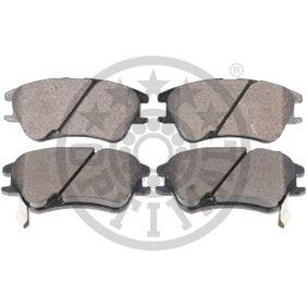 Bremsbelagsatz, Scheibenbremse Breite: 56mm, Dicke/Stärke: 17mm mit OEM-Nummer 1K0 698 451 H