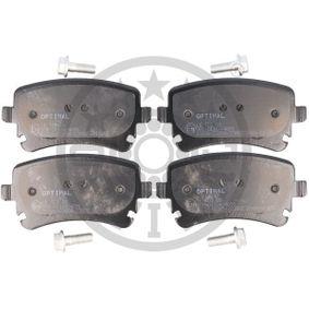 Bremsbelagsatz, Scheibenbremse Breite: 58,92mm, Dicke/Stärke: 17,4mm mit OEM-Nummer 4F0 698 451C