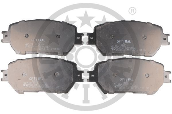 Bremsbeläge 12253 OPTIMAL 12253 in Original Qualität