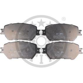 Bremsbelagsatz, Scheibenbremse Breite: 58,5mm, Dicke/Stärke: 17,3mm mit OEM-Nummer 04465-33250