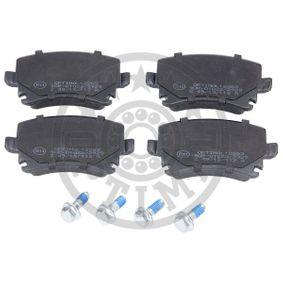Bremsbelagsatz, Scheibenbremse Breite: 56mm, Dicke/Stärke: 17mm mit OEM-Nummer 4F0698451D