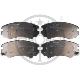 Bremsbelagsatz, Scheibenbremse Breite: 60,1mm, Dicke/Stärke: 16,9mm mit OEM-Nummer 58101 3CA20
